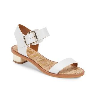 Sam Edelman Trina Leather White Sandals Size 8.5M